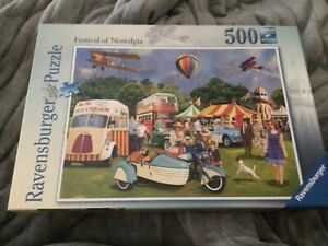 Ravensburger 500 Jigsaw Puzzle FESTIVAL OF NOSTALGIA completed once from new