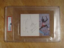 CARL LEWIS (9/GOLDS) SIGNED AUTOGRAPHED PHOTO CUT ENCAPSULATED USA OLYMPIAN PSA
