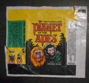 1968 PLANET OF THE APES CARD WRAPPER TOPPS