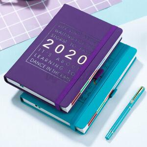 2020 Agenda Notebook A5 Leather Planner Organizer Diary Schedule Writing Book AU