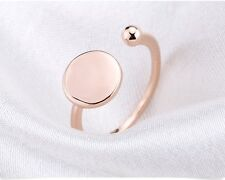 18K ROSE GOLD SPHERE SHAPE  RING BALL AND CIRCLE EVERY DAY FASHION   RING 2017