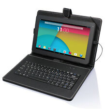 "10.1"" Tablet Quad Core Android 4.4 WiFi Bluetooth16GB Bundle Keyboard Refurbish"