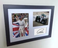 Signed Lewis Hamilton F1 Autograph Photograph Photo Picture Frame Memorabilia A4