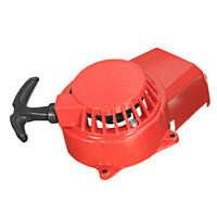 Red Pull Start 47 49cc Air Cooled 2 Stroke Mini Moto Dirt Bike Quad Pullstart