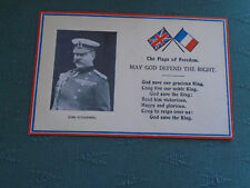 WW1 THE FLAGS OF FREEDOM - MAY GOD DEFEND THE RIGHT - EARL KITCHENER POSTCARD