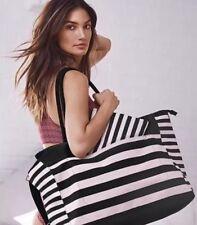 Victoria's Secret PINK STRIPE Weekender Duffle Bag Travel Tote Getaway Carryall