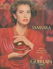 ▬► PUBLICITE ADVERTISING AD PARFUM PERFUME GUERLAIN Samsara 1985