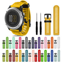 Pro. Soft Silicone Strap Replacement Watch Band With Tools For Garmin Fenix 3/HR