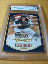 PETER O'BRIEN YANKEES 2013 USA CHAMPIONS # 110 ROOKIE RC GRADED 10 L@@@K