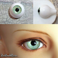 14mm acrylic bjd doll eyes glitter light green full eyeball dollfie AE44 Ship US