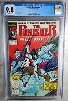 Punisher War Journal #7 Wolverine Marvel 1989 CGC 9.8 NM/MT WPages Comic M0190