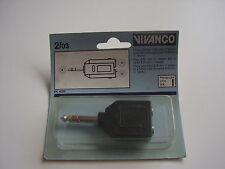Vivanco Klinkenstecker Stereo und 2 Klinkenkupplungen 6,35 mm Stereo EK 4203