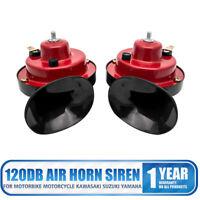 Car Horn Air 12V Snail Set Loud Dual Two Tone Fittings Truck Van Boat Siren U.K