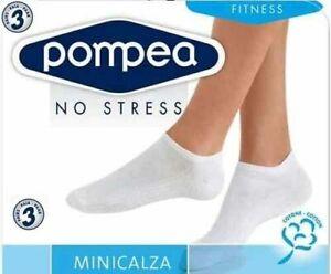 Pompea Fantasmini Unisex Mini Calze Confezione 6 Paia No Stress Linea Fitness