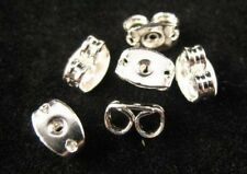150 Silver Plated Butterfly Earing Back Stoppers E564
