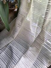 LAYLA MADRAS righe stile antico color panna lungo cotone Pannello curtain-