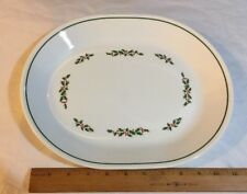 ❤️Corelle HOLLY DAYS OVAL PLATTER CORNING Dishes SERVING Meat CHRISTMAS EUC