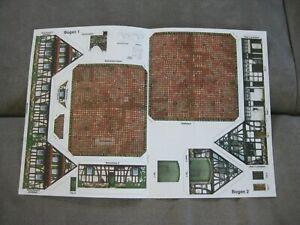 Gebäude - 1:72 - Waterloo - Bauernhof - Napoleon - Papier - 2 Gebäude & 1 Hoftor