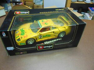Bburago 1:18 Ferrari F 40 Racing 1987 Totip New And Unused Boxed