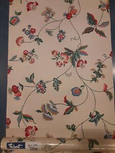 NOS VINTAGE Beautiful Double Rolls Designer Wallpaper THIBAUT T6406 FLOWERS