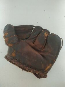 Vintage 1950s Rawlings Leather Baseball Glove 3 Finger Stan Musial Cardinals