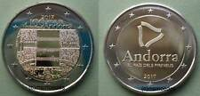 Andorra 2x 2 Euro Gedenkmünzen 2017 Hymne + Pyrenäen commemorative coins