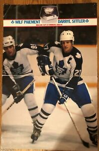 1980 Molson Cup Leaf Poster with Lineup for Montreal game inside