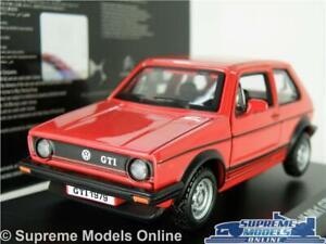 VOLKSWAGEN VWGOLF GTI MK1 MODEL CAR 1:32 SCALE RED BURAGO 70'S/80'S HATCH K8