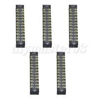 5pcs zweireihig 12 Position Klemmenblock Bar ElektrischDraht Kabelstecker 15A