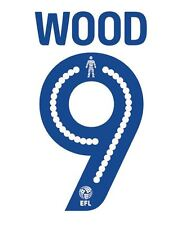 Wood 9 2016-2017 Leeds United Home Football Nameset for shirt LUFC