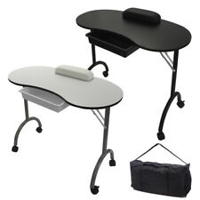 RayGar Manicure Table Foldable Portable Mobile Nail Art Beauty Salon Desk