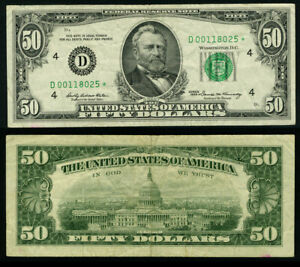 FR. 2114 D* $50 1969 Federal Reserve Note Cleveland Very Fine Star