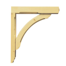 1 x Curved Gallows Bracket by George Woods - Wooden Timber Porch Hanging Basket