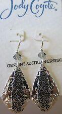 Jody Coyote Earrings JC0908 new Orchid SMC214-01 silver black dangle hypoallerg