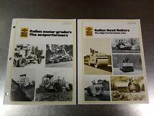 1975 Galion Road Roller & 1976 Motor Grader Equipment Sales Brochure Catalogs