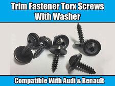 20x Torx Screws For AUDI RENAULT TWINGO LAGUNA Metal Trim Fastener Washer Black