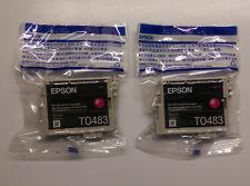 2 x EPSON t0483 MAGENTA CAVALLUCCIO STYLUS PHOTO FOTO rx500 rx600 rx620 rx640