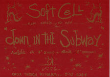 SOFT CELL ~ A4 PROMO SHEET ~ DOWN IN THE SUBWAY. Marc Almond. Orig 1984. M.