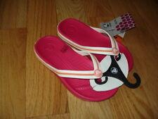 Girls CROCS Pink Flip Flops Thong Sandals Size 12/13 ~ NEW ~ NWT