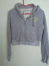 JUNIORS WOMEN  ABERCROMBIE GRAY HOODIE. SIZE M . AWESOME!