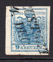 Austria 9 Kreuzer Stamp c1850 Fine Used Type III (2198)