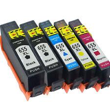 For HP 655 Print Ink Cartridges use for HP Deskjet 3525 4615 4626 5525 6525 5PCS