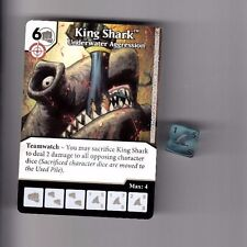 DICE MASTERS DC GREEN ARROW & FLASH COMMON CARD #25 KING SHARK  W/DICE
