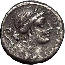 Roman Republic Goddess of Fertility FESTIVAL Ancient Silver Coin Warriors i49086