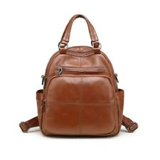 Fashion Women Genuine Cow Leather Backpack Messenger Shoulder Bag handbag Black