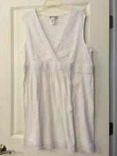 Resorts Plus White Cotton Swimsuit Cover-up, NWOT, Sz. Large