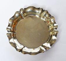 Tablett für Puppenstube 800 Silber Miniaturplatte Miniaturtablett Teller um 1900