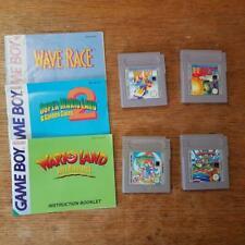 4 X Nintendo Gameboy Paquete De Juegos Super Mario Land 2 6 monedas de oro Warioland 3