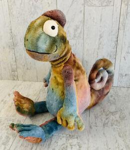 "Jellycat Colin Chameleon Tie Dye Plush 12"" Lizard Stuffed Animal Rainbow"