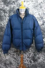 Mens XL Nautica navy blue down puffer vintage jacket